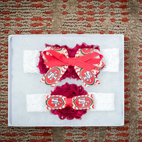 San Fransisco 49ers Garter for Wedding Football Team