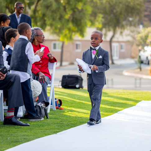 Stunning Ring Bearer in his Tux at Hidden Valley Golf Course