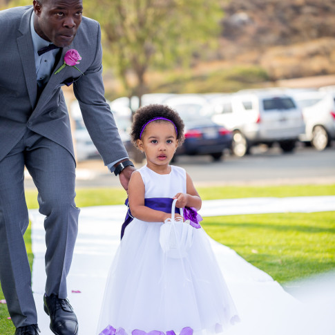 Amazing Flower girl and Best man walking down the aisle Hidden Valley Golf Course