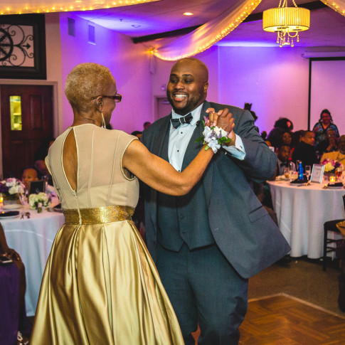 Groom and Mother Wedding Dance Hidden Valley Golf Course