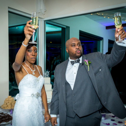 Wedding Toast with Bride and Groom at Hidden Valley Golf Course