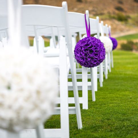 Golf Course Wedding Set Up in Corona,California