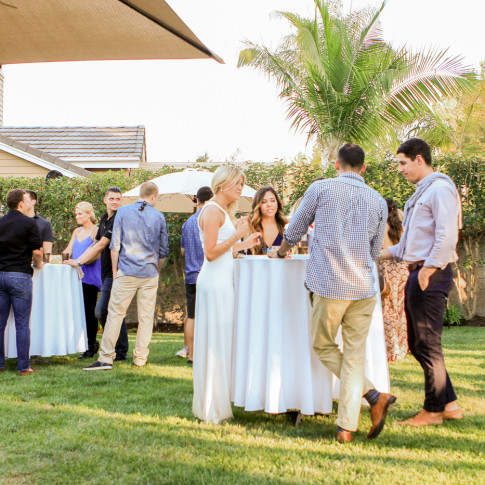 Guests at dove canyon engagement party