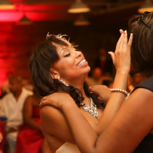 Emotional bride during mother daughter dance. Orange county mining co