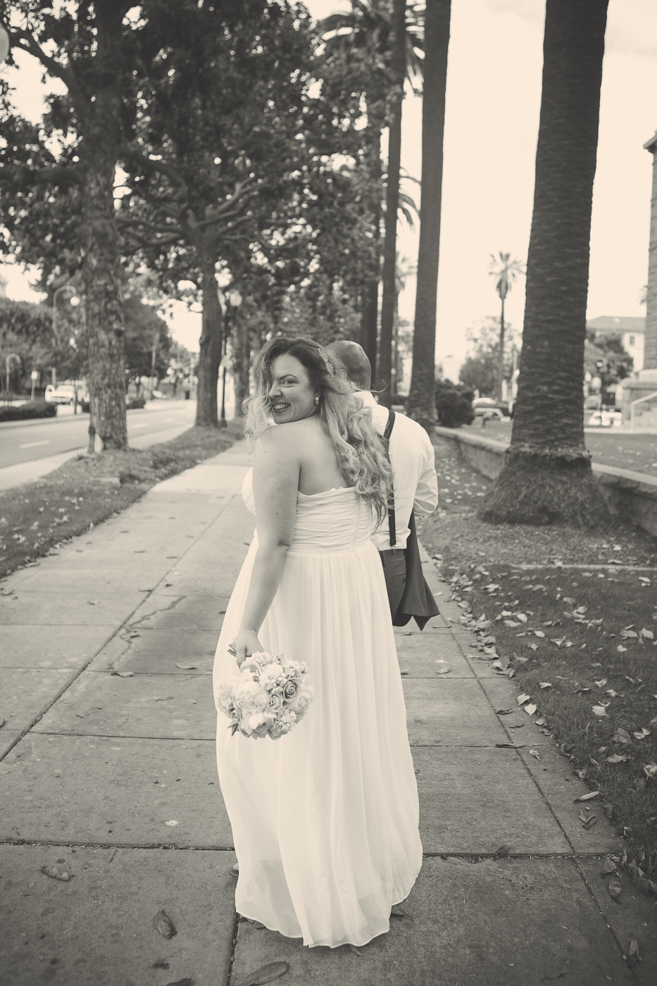 Beautiful bride after Santa Ana Courthouse wedding