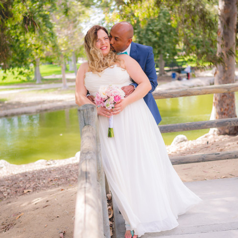 Beautiful park wedding photo at Mile Square park Garden Grove