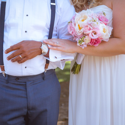 Beautiful wedding photo at mile square park in garden grove