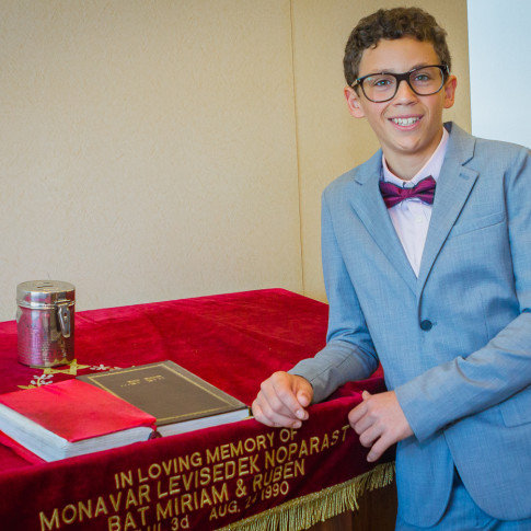 Bar mitzvah ceremony at Chabad of Irvine