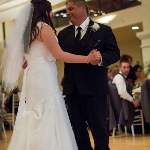 Bride dances with her father, father daughter dance in Ventura, CA.