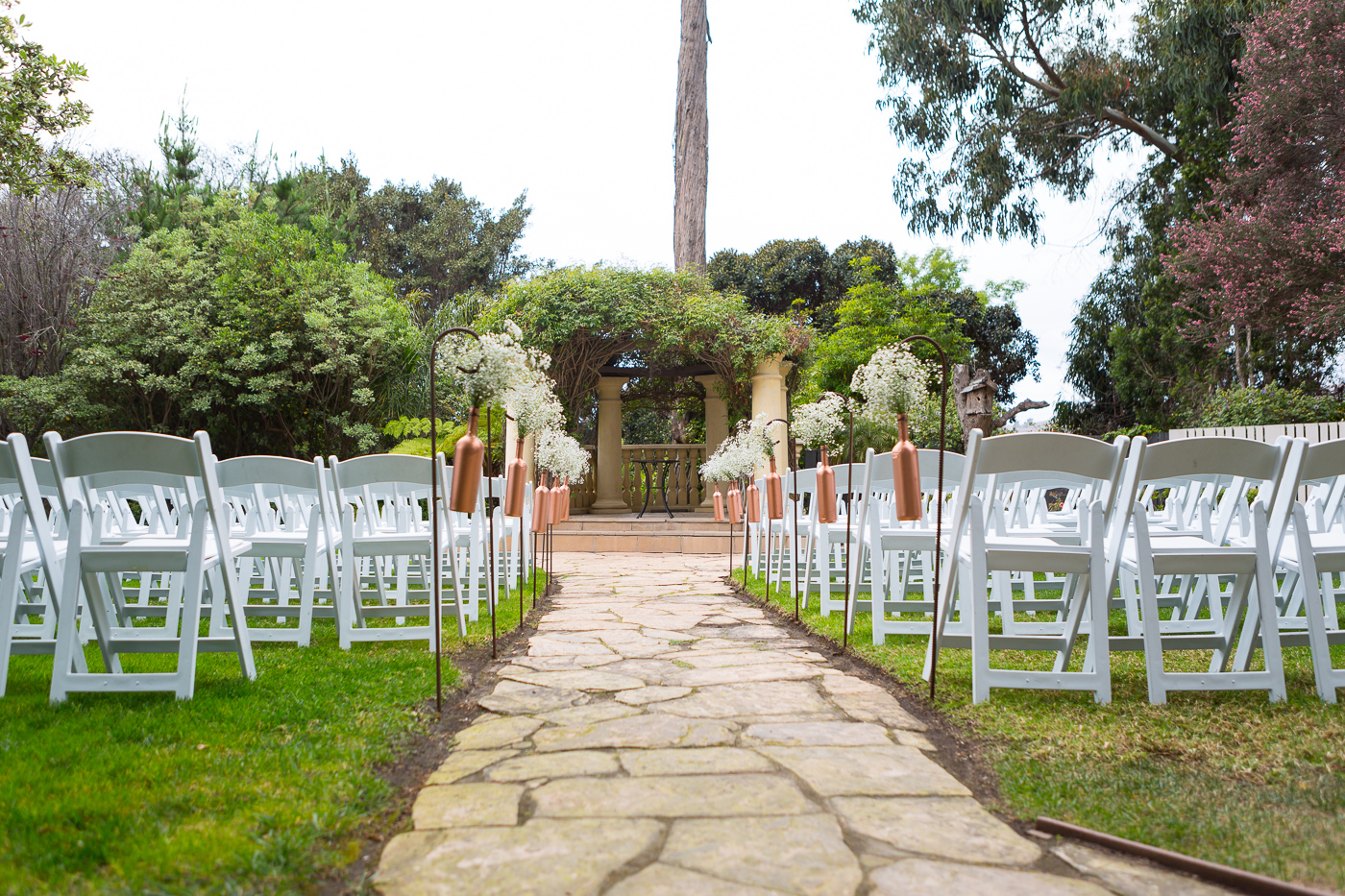 Beautiful outdoor wedding setup for wedding ceremony. Finally Forever Photography