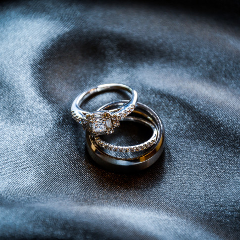 An Amazing Picture of the Wedding Rings before the Big Day